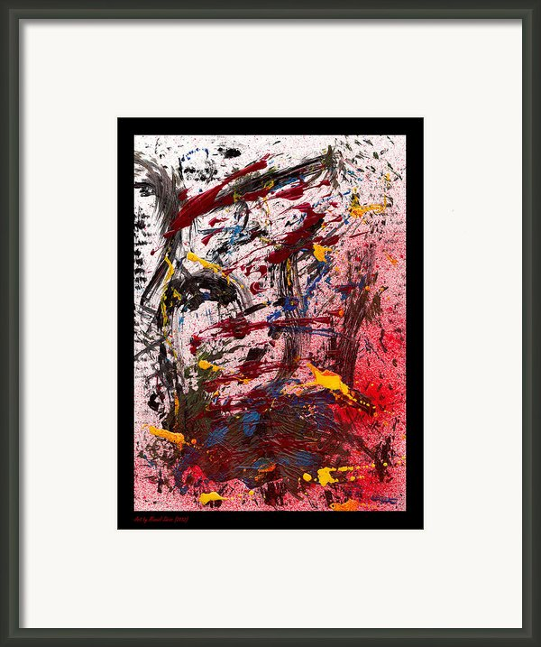 A Cook And His Soup - White Framed Print By Manuel Sueess