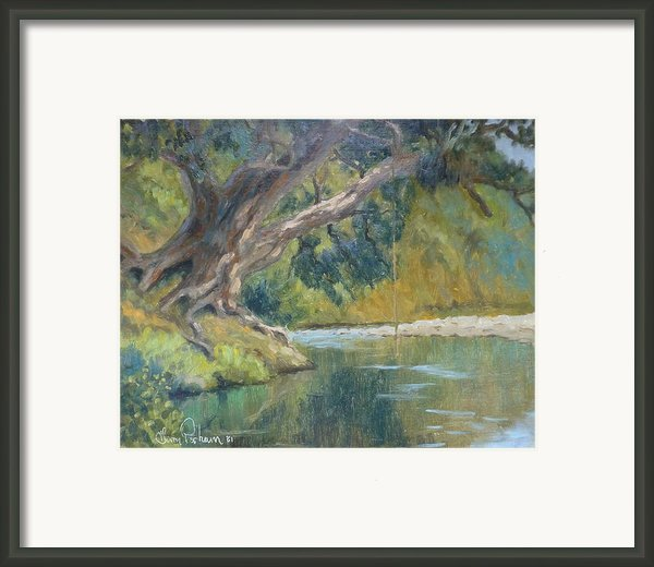 A Coramandel Stream Framed Print By Terry Perham