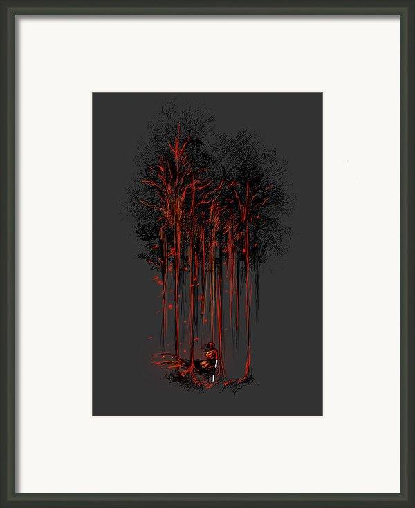 A Crimson Retaliation Framed Print By Budi Satria Kwan