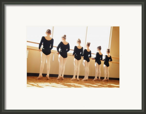 A Dance Class Framed Print By Don Hammond