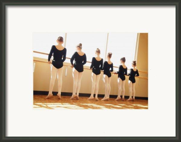 A Dance Class Framed Print By Don Hammond