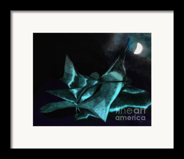 A Dream - Flying To The Moon Framed Print By Gerlinde Keating - Keating Associates Inc