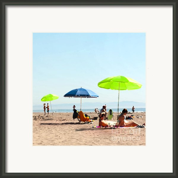 A Fine Day At The Beach Framed Print By Author And Photographer Laura Wrede