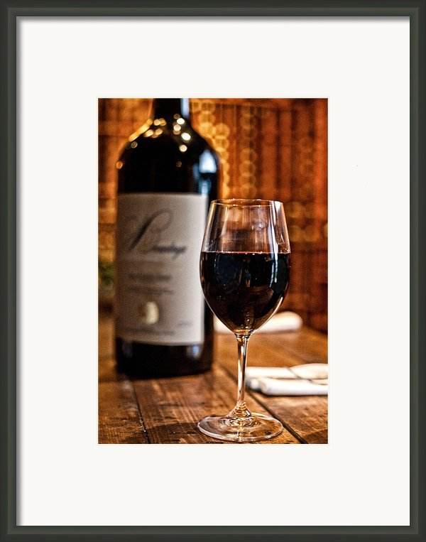 A Fine Red Framed Print By Shanna Gillette