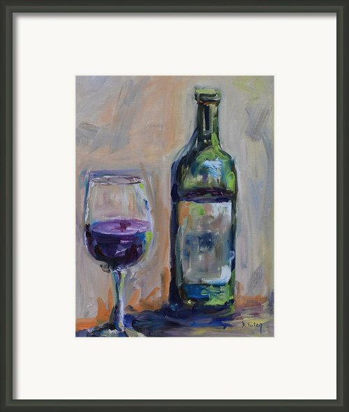 A Good Pour Framed Print By Donna Tuten