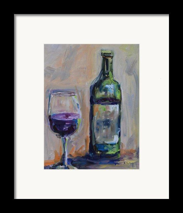 A Good Pour Framed Print By Donna Tuten