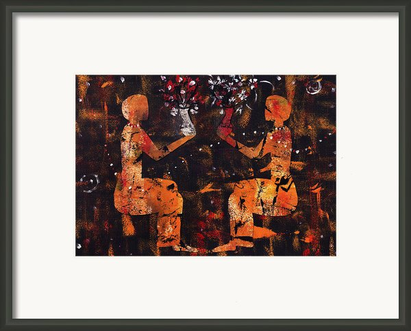 A Good Understanding Framed Print By Catalina Lira