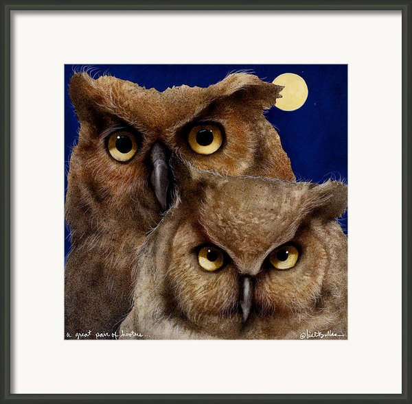 A Great Pair Of Hooters... Framed Print By Will Bullas