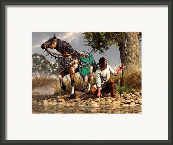 A Hunter And His Horse Framed Print By Daniel Eskridge