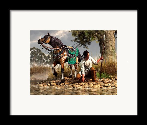 A Hunter And His Horse Framed Print By Daniel Eskridge