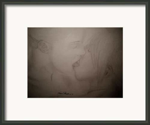 A Kiss Framed Print By Samuel Palibroda