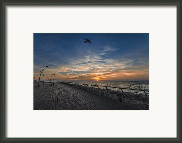 A Kodak Moment At The Tel Aviv Port Framed Print By Ron Shoshani