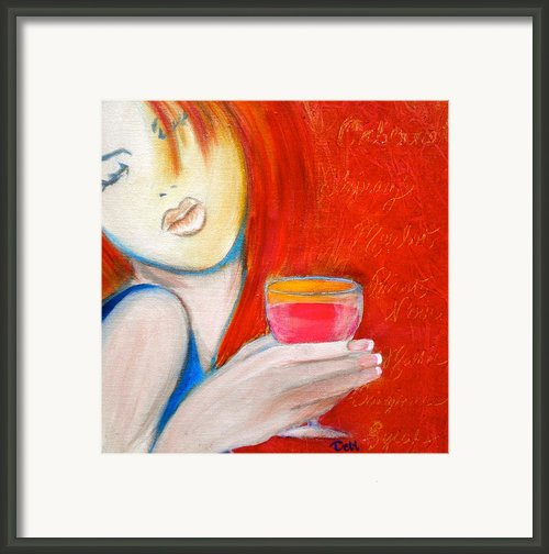 A Little Tart Framed Print By Debi Pople