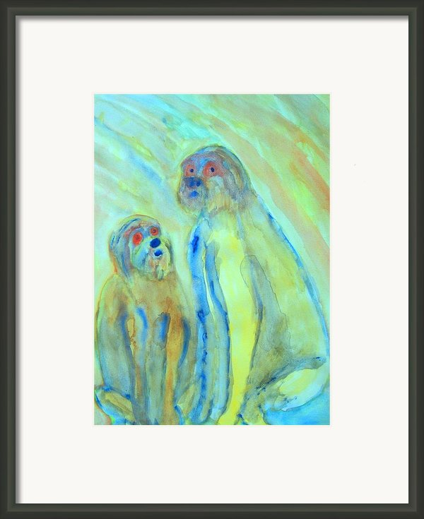 A Little Troll Family  Framed Print By Hilde Widerberg