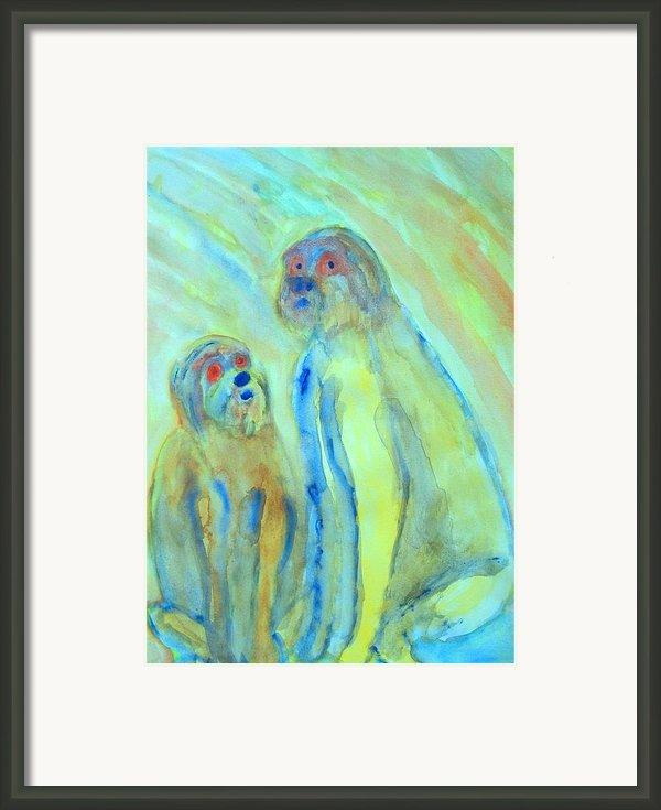A Little Troll Family  Framed Print By Hilde Widerberg