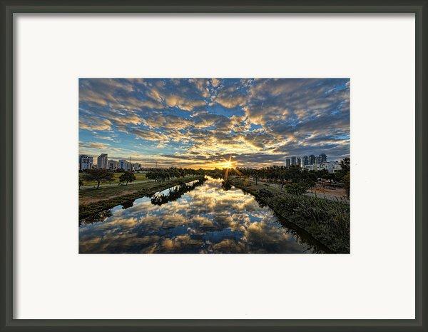 A Magical Marshmallow Sunrise  Framed Print By Ron Shoshani