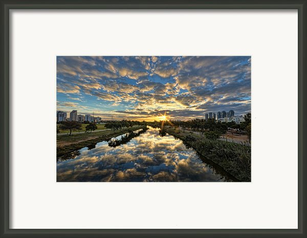 A Magical Marshmallow Sunrise  Framed Print By Ron Shoshani