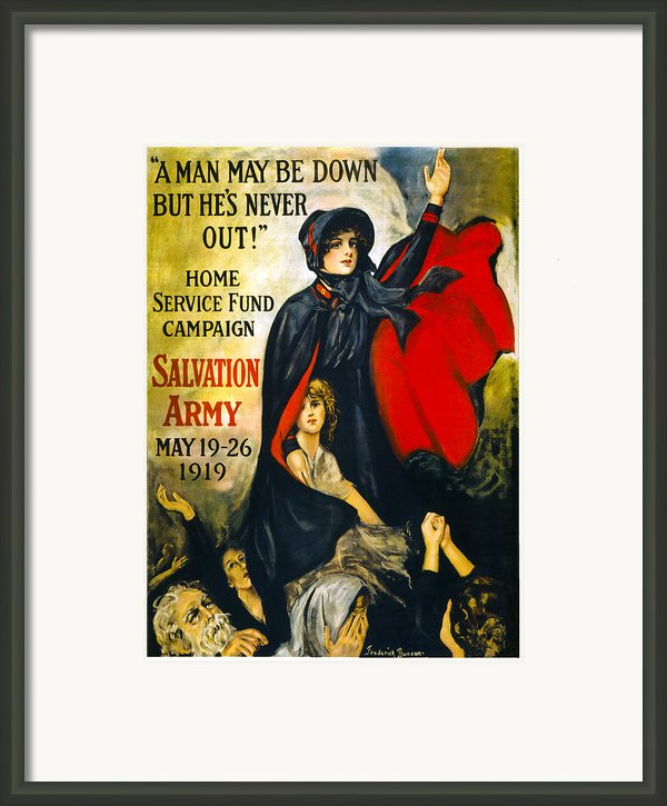 A Man May Be Down . . .   1919 Framed Print By Daniel Hagerman