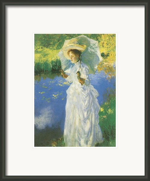 A Morning Walk Framed Print By John Singer Sargent