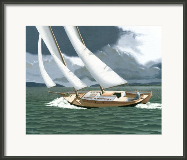 A Passing Squall Framed Print By Gary Giacomelli