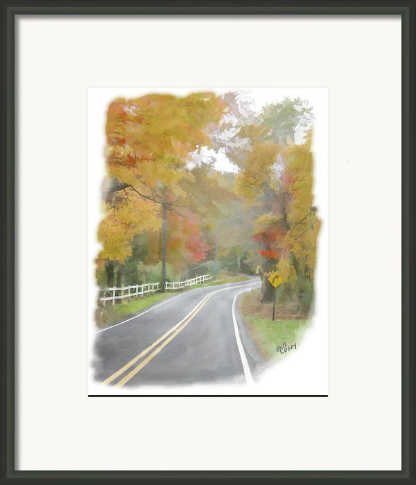 A Quiet Country Road Framed Print By Bill Losey