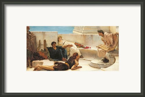 A Reading From Homer Framed Print By Sir Lawrence Alma Tadema