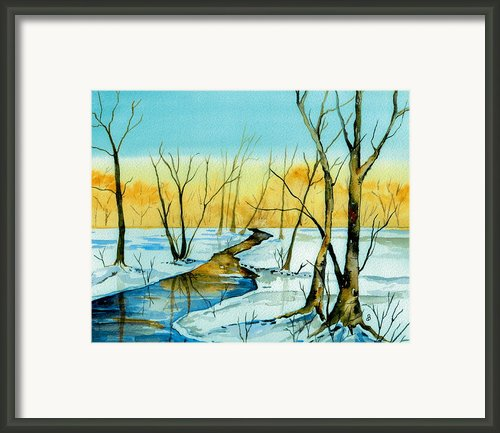A Sign Of Winter Framed Print By Brenda Owen