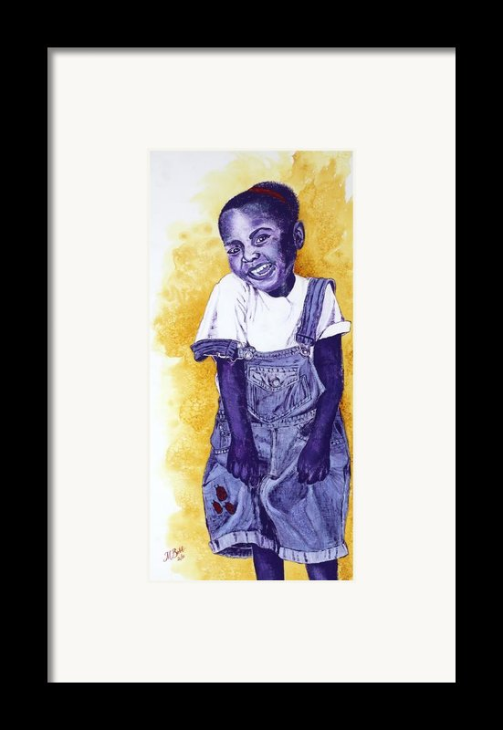 A Smile For You From Haiti Framed Print By Margaret Bobb