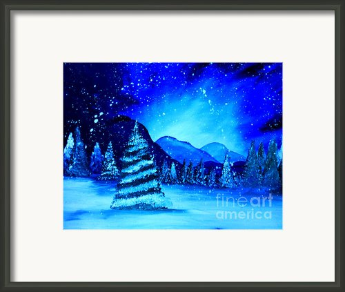A Snowy Dream Framed Print By Krista May