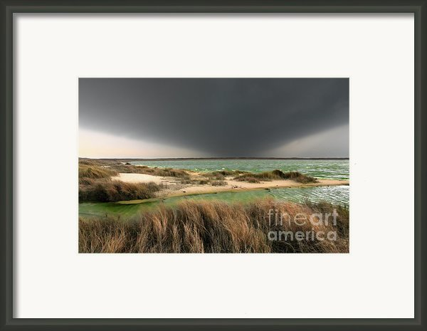 A Storm A Coming - Outer Banks I Framed Print By Dan Carmichael