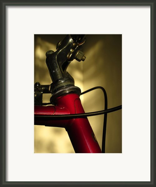 A Study In Scarlet Bicycle Framed Print By Guy Ricketts