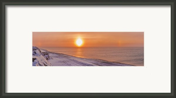 A Sundog Hangs In The Air Over The Framed Print By Kevin Smith
