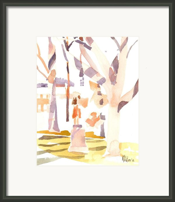 A Sunny Winters Day Framed Print By Kip Devore