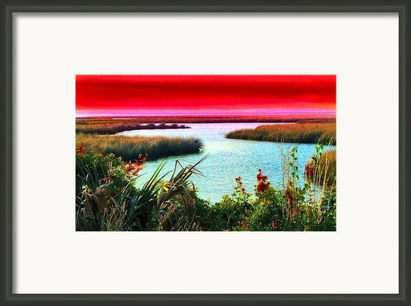 A Sunset Crimsoned Framed Print By Julie Dant