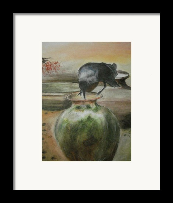 A Thirsty Crow Framed Print By Prasenjit Dhar