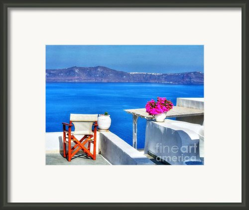A Time-out Chair Framed Print By Mel Steinhauer