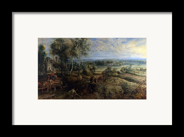 A View Of Het Steen In The Early Morning Framed Print By Peter Paul Rubens