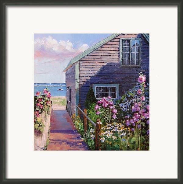A Visit To P Town Two Framed Print By Laura Lee Zanghetti