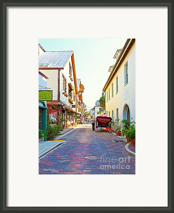 A Walk In St Augustine Framed Print By Michelle Wiarda
