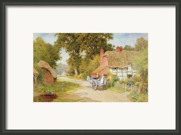 A Warwickshire Lane Framed Print By Arthur Claude Strachan