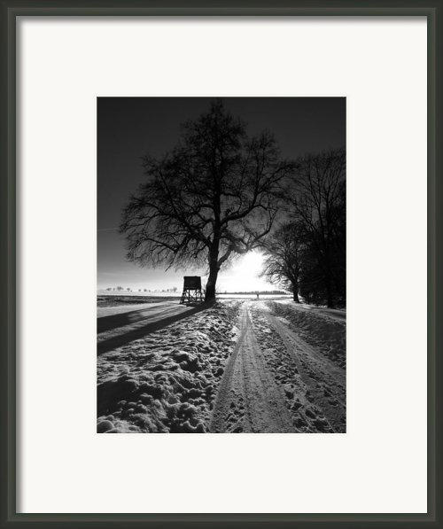 A Winter Sunset Framed Print By Mountain Dreams
