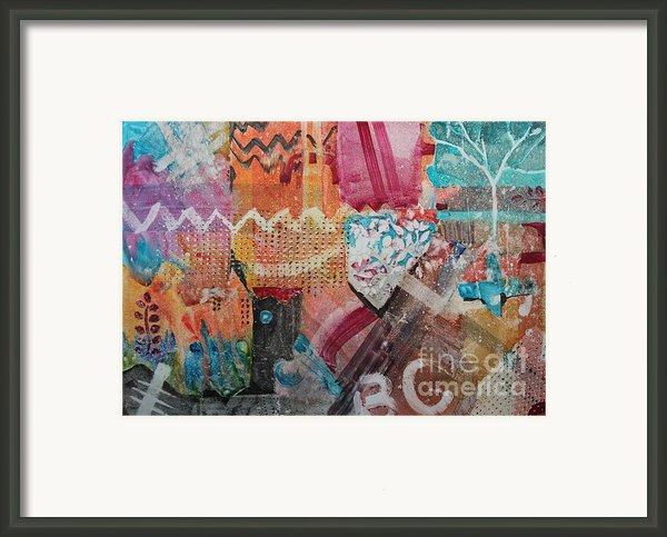 A Winter Walk In The Park Framed Print By Elizabeth Carr