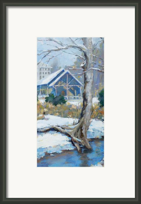 A Winter Walk In The Park Framed Print By Sandra Harris