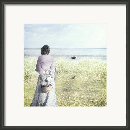 A Woman And The Sea Framed Print By Joana Kruse
