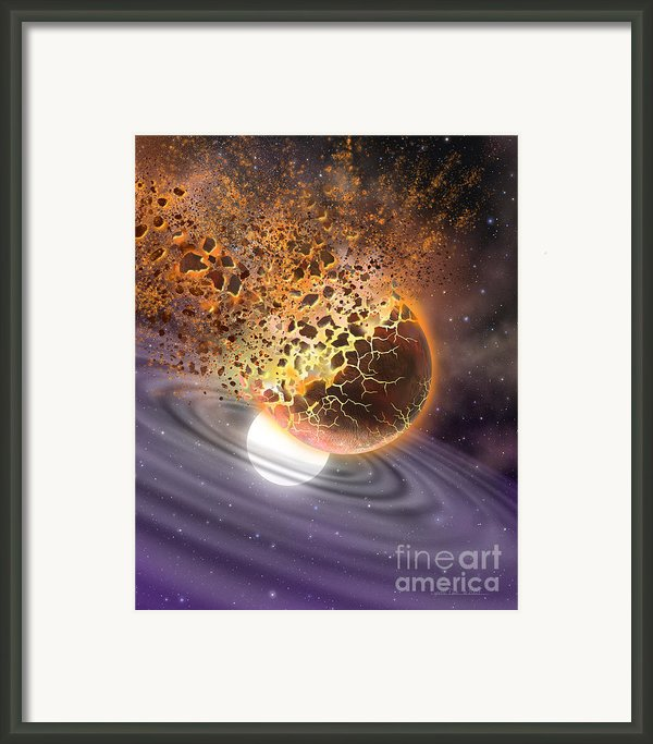A World Ripped Apart Framed Print By Lynette Cook