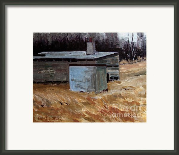 Abandoned Ice House Circa Late 1800.s Framed Print By Charlie Spear