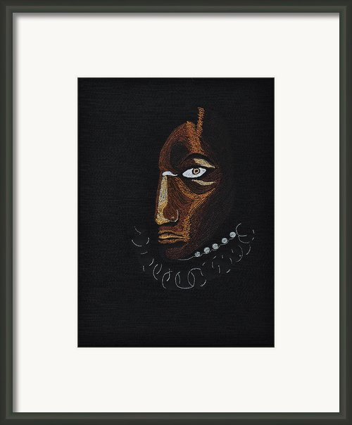 Aboriginal Woman Framed Print By Jo Baner
