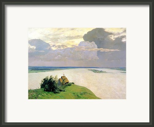 Above The Eternal Peace Framed Print By Isaak Ilyich Levitan