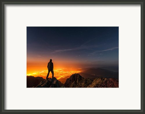 Above The Night Framed Print By Evgeni Dinev
