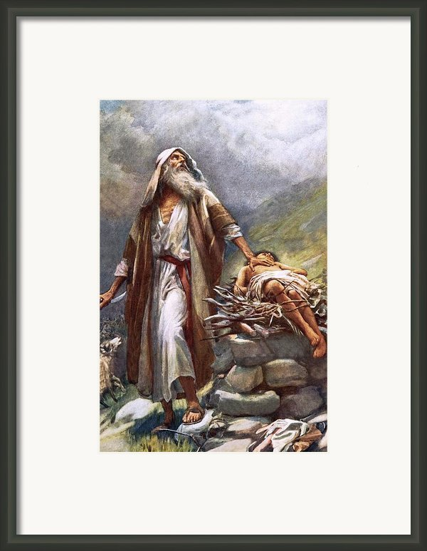 Abraham And Isaac Framed Print By Harold Copping